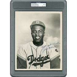 Jackie Robinson Signed Photograph - PSA/DNA MINT 9