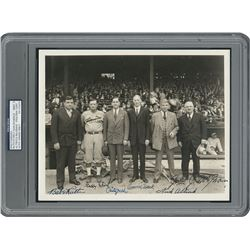 Babe Ruth, John McGraw, Connie Mack, and Christy Walsh 1931 Signed Photograph - PSA/DNA MINT 9