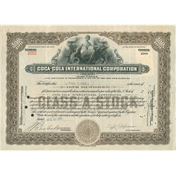 Very Desirable Ty Cobb 1930 Coca-Cola Signed Stock Certificate - PSA/DNA MINT 9