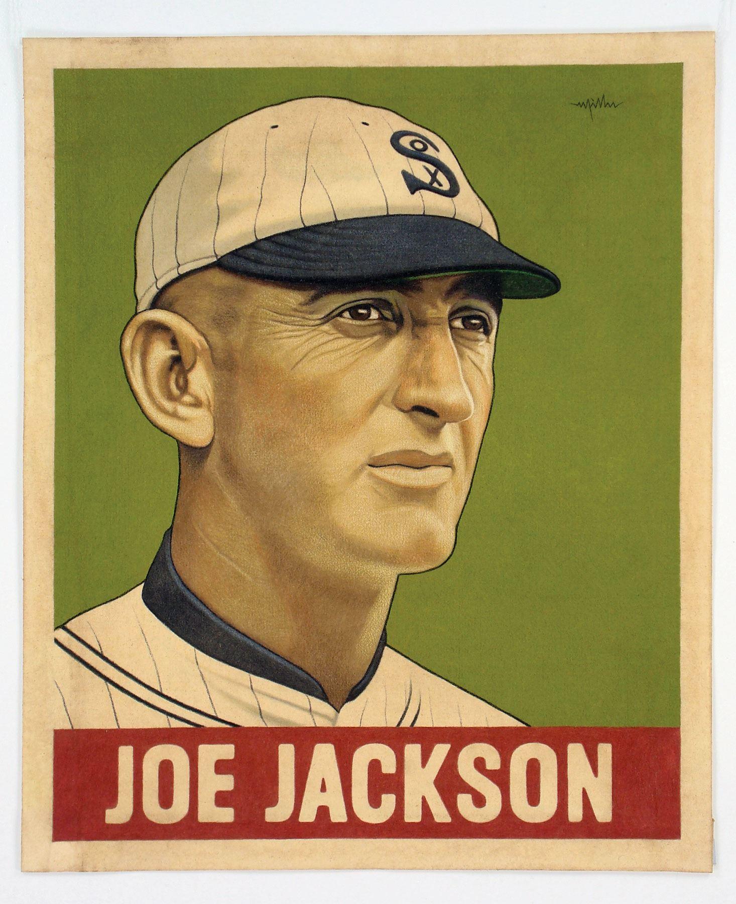 Joe Jackson Original Painting By Arthur K Miller