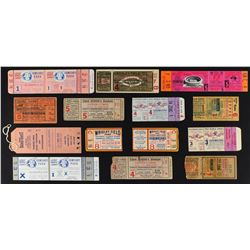 1920's-70's World Series Full Ticket and Stub Collection (13)