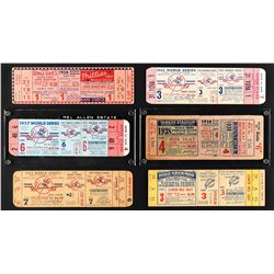 1940's/50's New York Yankees World Series Full Ticket Collection (6)