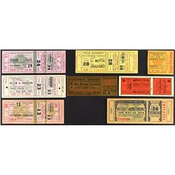 1926-1961 Boxing Championship Ticket Collection with Rocky Marciano and Sugar Ray Robinson