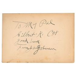 Jack Johnson Signed 1927 Hardcover First Edition of 'Jack Johnson—In The Ring—And Out'