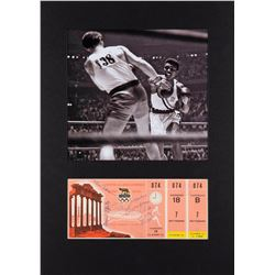 Cassius Clay 1960 Olympics Signed Ticket Display