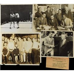 Early Boxing Original Photo Collection with Jack Dempsey, Jess Willard and Joe Louis