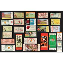 1930's-90's College Football Bowl Game Ticket Collection (25) - Mostly Rose Bowl (15) Plus a Pair of