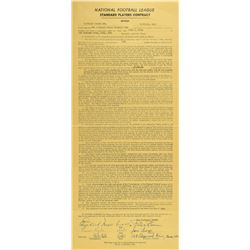 Lou Groza 1951 Cleveland Browns Signed Player Contract with Paul Brown and Bert Bell
