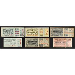 Turn of the Century Ivy League College Football Ticket Collection (8) with Princeton, Harvard and Ya