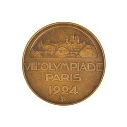 Paris 1924 Summer Olympics Bronze Participation Medal