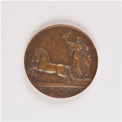 St. Moritz 1928 Winter Olympics Participation Medal and Badge