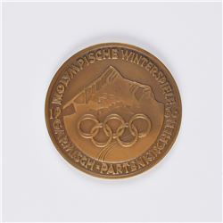 Garmisch 1936 Winter Olympics Bronze Participation Medal
