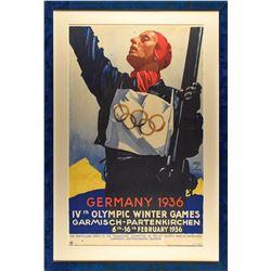 Garmisch 1936 Winter Olympics Poster