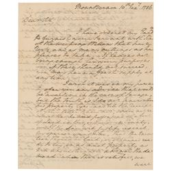 George Washington 1786 Signed Handwritten Letter