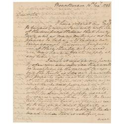 George Washington 1786 Signed Handwritten Letter
