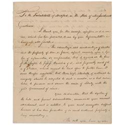 John Adams 1798 Signed Letter
