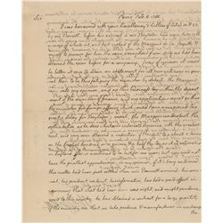 Thomas Jefferson 1786 Signed Handwritten Letter