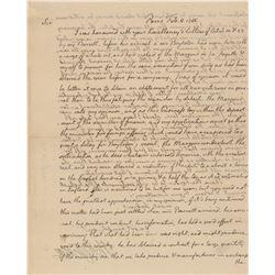 Thomas Jefferson 1786 Signed Handwritten Letter