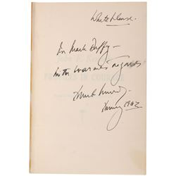 John F. Kennedy 1962 Profiles in Courage Signed Book - White House