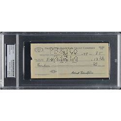 Albert Einstein 1949 Signed Bank Check - PSA/DNA