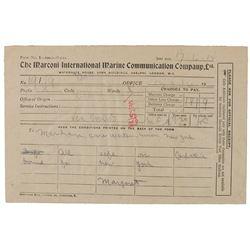 Titanic Marconigrams: Leila Meyer Saks