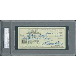 Bruce Lee 1971 Signed Personal Check - PSA/DNA GEM MINT 10