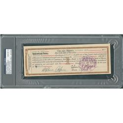 Al Capone Extremely rare 1926 Twice-Signed Document - PSA/DNA GEM MINT 10!