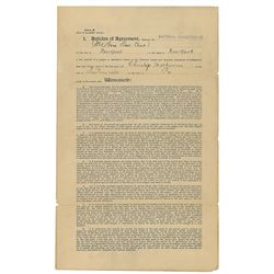 Christy Mathewson 1902 New York Giants Signed Player Contract