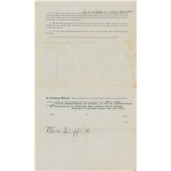 Joe Gedeon 1916 Washington Senators Contract also Signed by Clark Griffith