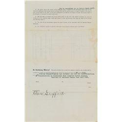 Joe Gedeon 1916 Washington Senators Contract also Signed by Clark Griffith