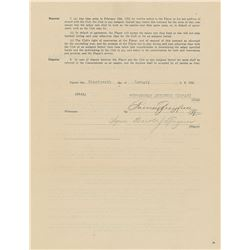 Pie Traynor 1922 Pittsburgh Pirates Signed Player Contract with Barney Dreyfuss - Traynor's First Fu