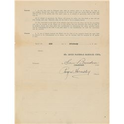 Rogers Hornsby 1921 St. Louis Cardinals Signed Player Contract (NL Batting Champion!)