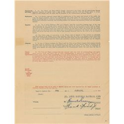 Frankie Frisch 1929 St. Louis Cardinals Signed Player Contract