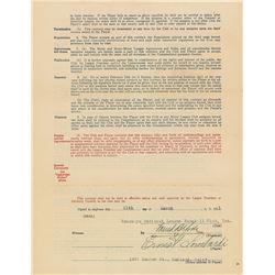 Ernie Lombardi 1931 Brooklyn Robins Signed Player Contract (Rookie Season)