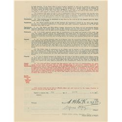 Al Lopez 1933 Brooklyn Dodgers Signed Player Contract