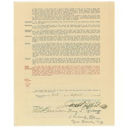 Lou Gehrig 1935 New York Yankees Signed Player Contract