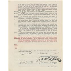 Lefty Gomez 1935 New York Yankees Signed Player Contract