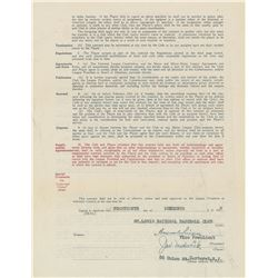 Joe Medwick 1936 St. Louis Cardinals Signed Player Contract with Branch Rickey