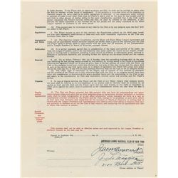 Joe DiMaggio 1938 New York Yankees Signed Player Contract (Pre-Season Holdout)