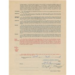 Lloyd Waner 1938 Pittsburgh Pirates Signed Player Contract