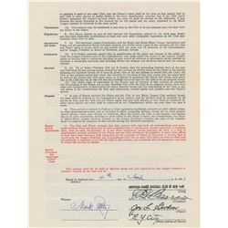 Joe Gordon 1941 New York Yankees Signed Contract