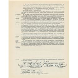 Tom Henrich 1947 New York Yankees Signed Player Contract
