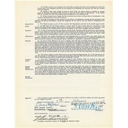 Charlie Keller 1947 New York Yankees Signed Player Contract
