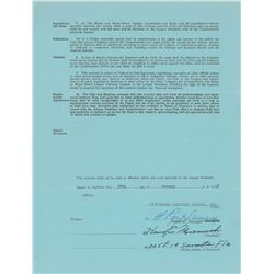Heinie Manush 1947 Pittsburgh Pirates Signed Scout's Contract