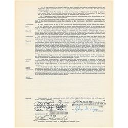 Allie Reynolds 1947 New York Yankees Signed Player Contract (First Yankee Contract)