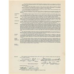 Phil Rizzuto 1948 New York Yankees Signed Player Contract