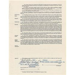Gil Hodges 1949 Brooklyn Dodgers Signed Player Contract