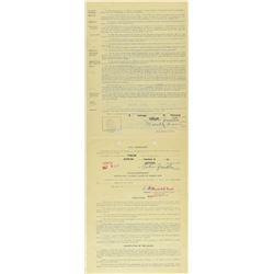 Willard Brown 1953 Puerto Rico Winter League Signed Player Contract