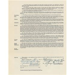 Whitey Ford 1953 New York Yankees Signed Player Contract
