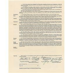 Mickey Mantle 1953 New York Yankees Signed Player Contract